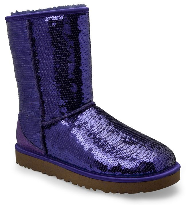 Ugg womens ugg boots womens classic short sparkle sequin purple 31199
